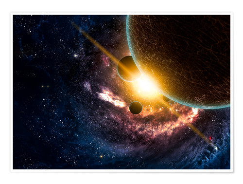 Premium poster Planets in space