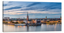 Canvas  Stockholm evening panorama