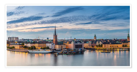 Premium poster  Stockholm evening panorama