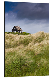 Aluminium print  Cottage in the dunes during storm