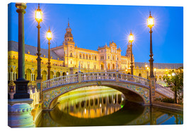Canvas print  Plaza de Espana in Seville