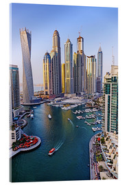 Acrylic print  Dubai Marina from above