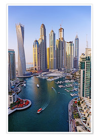 Poster  Dubai Marina from above