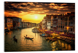Acrylic glass  Grand Canal at sunset
