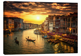 Canvas  Grand Canal at sunset