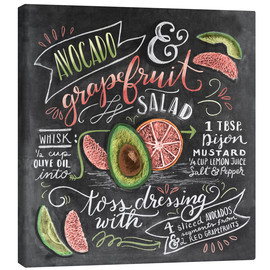 Canvas print  Avocado Grapefruit Salad - Lily & Val
