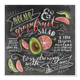 Poster  Avocado Grapefruit Salad - Lily & Val
