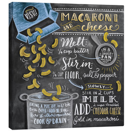 Canvas print  Macaroni and Cheese recipe - Lily & Val