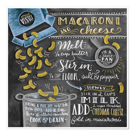 Poster  Macaroni and Cheese - Lily & Val