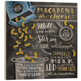 Wood print  Macaroni and Cheese recipe - Lily & Val