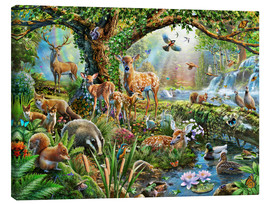 Canvas print  Woodland creatures - Adrian Chesterman