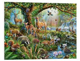Foam board print  Woodland creatures - Adrian Chesterman