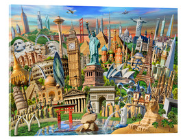 Acrylic glass  World Landmarks Collection - Adrian Chesterman