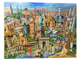 Foam board print  World Landmarks Collection - Adrian Chesterman