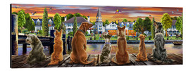 Aluminium print  Dogs on the Quay (Variant 1) - Adrian Chesterman