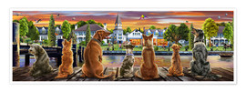 Premium poster  Dogs on the Quay (Variant 1) - Adrian Chesterman