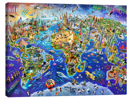 Canvas print  Crazy world - Adrian Chesterman