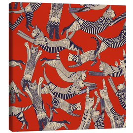 Canvas print  Cat party - Sharon Turner