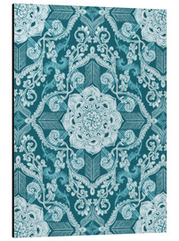 Alu-Dibond  Centered Lace in Sea Green Teal - Micklyn Le Feuvre