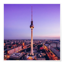 Premium poster Berlin - TV Tower Skyline