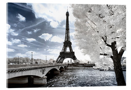 Acrylic print  Infrared Eiffel Tower and Seine - Philippe HUGONNARD
