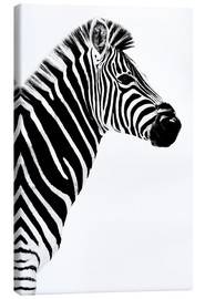 Canvas  Safari Profile Collection - Zebra White Edition III - Philippe HUGONNARD