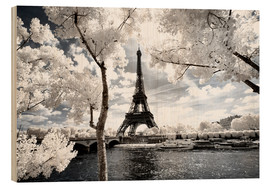 Wood print  Infrared - Paris Eiffel Tower - Philippe HUGONNARD