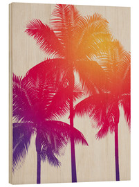 Wood print  palm tree colours - Alex Saberi