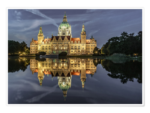 Premium poster Neues Rathaus - Hannover, Germany