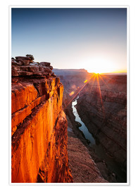 Premium poster  Beautiful sunrise on Grand Canyon and river Colorado, USA - Matteo Colombo
