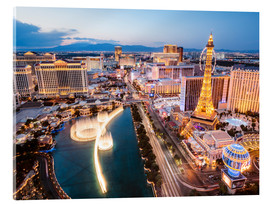 Acrylic print  View on Bellagio fountain and the Strip, Las Vegas, Nevada, USA - Matteo Colombo