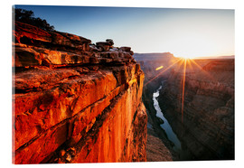 Acrylic glass  Beautiful sunrise on Grand Canyon and river Colorado, USA - Matteo Colombo