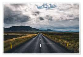 Premium poster Streets of Iceland # 1