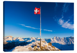 Canvas print  Piz Martegnas summit in Grisons - Dieterich Fotografie