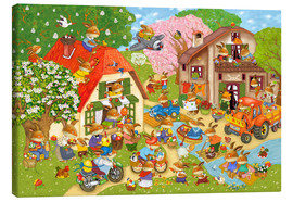 Canvas print  In Easter bunny village - Marion Krätschmer