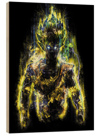 Wood print  50 Million Power Warrior Goku - Barrett Biggers