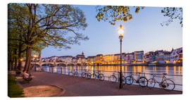 Canvas  Basel at night - Dieterich Fotografie