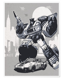 Poster alternative jazz retro transformers art print