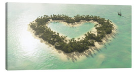 Canvas print  The heart island - Peter Weishaupt