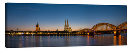 Canvas print  Cologne at sunset panorama - rclassen