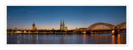 Premium poster  Cologne at sunset panorama - rclassen