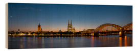 Wood print  Cologne at sunset panorama - rclassen
