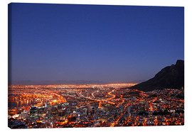 Canvas print  Cape Town at night, South Africa - wiw