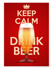 Premium poster  Keep Calm And Drink Beer