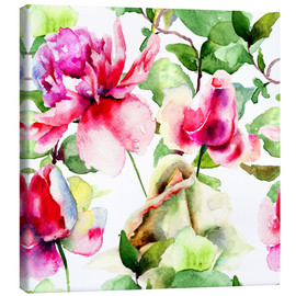 Canvas print  Roses Watercolor
