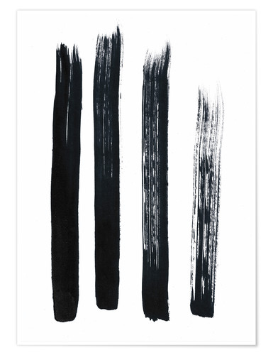 Poster Abstract brush strokes