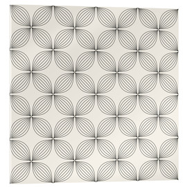 Acrylic glass  Monochrome line pattern