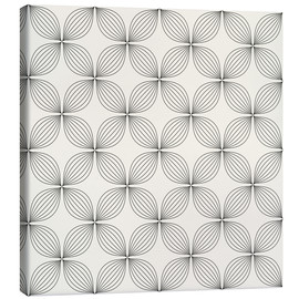 Canvas print  Monochrome line pattern
