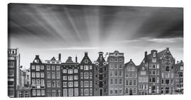 Canvas print  Amsterdam classic buildings