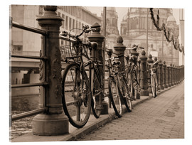 Bicycles on a promenade